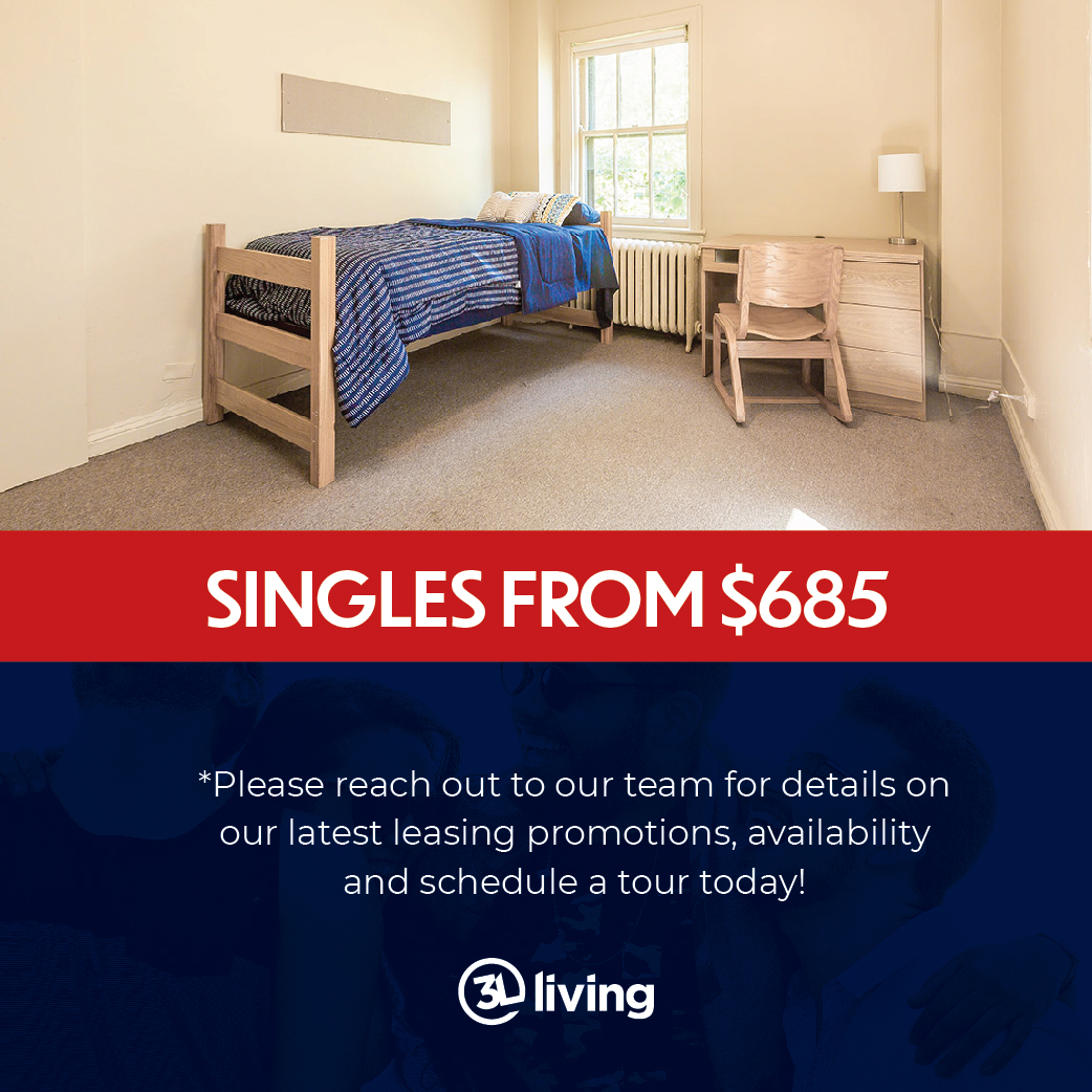 Studio Apartments from $974 - price includes 3 month promotion with 12-month lease on select units.