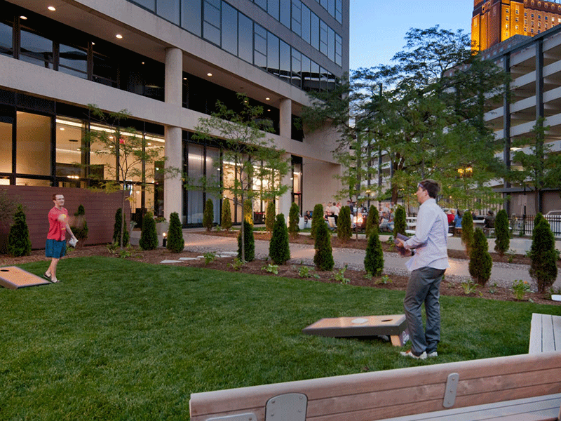 Fun outdoor space at Milwaukee apartments