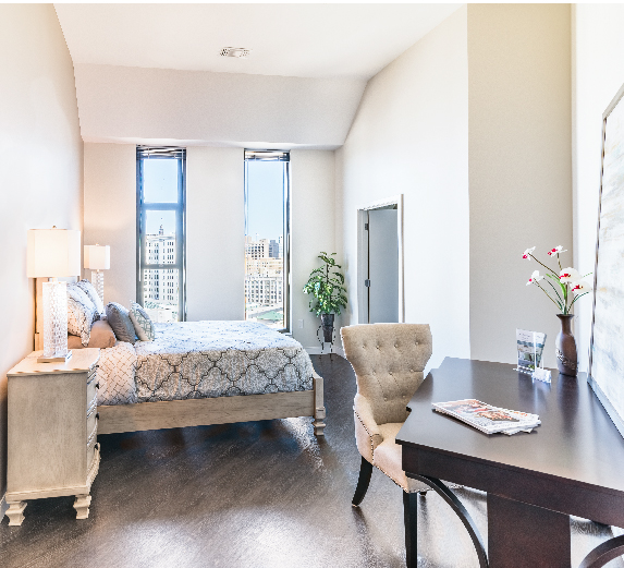 Modern, high-end 1 bedroom apartment in Milwaukee