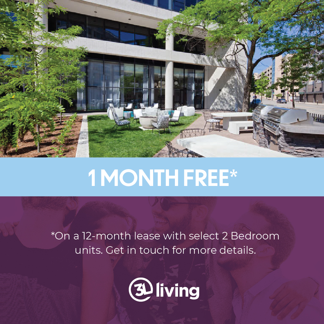 1 Month free on select units - must sign a 12-month lease